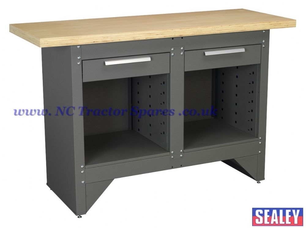 Workbench with 2 Drawers Ball Bearing Runners Heavy-Duty